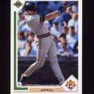 1991 Upper Deck Baseball #687 Jeff King - Pittsburgh Pirates