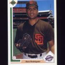 1991 Upper Deck Baseball #640 Rich Rodriguez RC - San Diego Padres