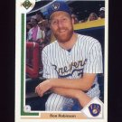 1991 Upper Deck Baseball #620 Ron Robinson - Milwaukee Brewers