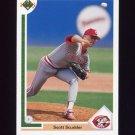 1991 Upper Deck Baseball #615 Scott Scudder - Cincinnati Reds