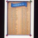 1991 Upper Deck Baseball #600 Checklist 501-600