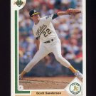 1991 Upper Deck Baseball #582 Scott Sanderson - Oakland A's