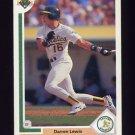 1991 Upper Deck Baseball #564 Darren Lewis - Oakland A's