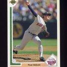 1991 Upper Deck Baseball #487 Paul Abbott RC - Minnesota Twins