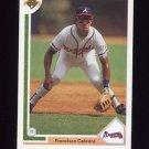 1991 Upper Deck Baseball #439 Francisco Cabrera - Atlanta Braves