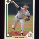 1991 Upper Deck Baseball #333 Andy Hawkins - New York Yankees