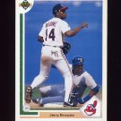1991 Upper Deck Baseball #116 Jerry Browne - Cleveland Indians