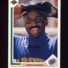 1991 Upper Deck Baseball #107 Jeffrey Leonard - Seattle Mariners