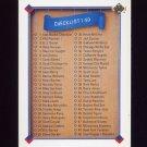 1991 Upper Deck Baseball #100 Checklist 1-100