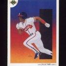 1991 Upper Deck Baseball #082 Atlanta Braves Team Checklist / Ron Gant