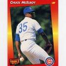 1992 Donruss Triple Play Baseball #245 Chuck McElroy - Chicago Cubs