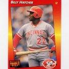 1992 Donruss Triple Play Baseball #222 Billy Hatcher - Cincinnati Reds