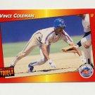 1992 Donruss Triple Play Baseball #208 Vince Coleman - New York Mets