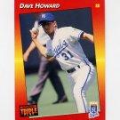 1992 Donruss Triple Play Baseball #201 Dave Howard - Kansas City Royals