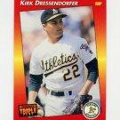 1992 Donruss Triple Play Baseball #177 Kirk Dressendorfer - Oakland A's