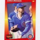 1992 Donruss Triple Play Baseball #097 Lance Dickson - Chicago Cubs