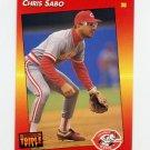1992 Donruss Triple Play Baseball #090 Chris Sabo - Cincinnati Reds
