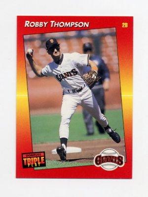 1992 Donruss Triple Play Baseball 045 Robby Thompson San