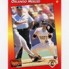 1992 Donruss Triple Play Baseball #016 Orlando Merced - Pittsburgh Pirates