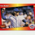 1992 Donruss Triple Play Baseball #014 Tim Burke - New York Mets