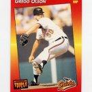 1992 Donruss Triple Play Baseball #013 Gregg Olson - Baltimore Orioles