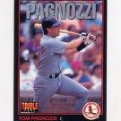 1993 Donruss Triple Play Baseball #194 Tom Pagnozzi - St. Louis Cardinals
