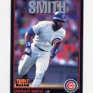 1993 Donruss Triple Play Baseball #172 Dwight Smith - Chicago Cubs