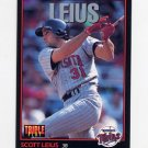 1993 Donruss Triple Play Baseball #165 Scott Leius - Minnesota Twins