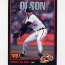 1993 Donruss Triple Play Baseball #135 Gregg Olson - Baltimore Orioles