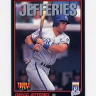 1993 Donruss Triple Play Baseball #130 Gregg Jefferies - Kansas City Royals