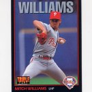 1993 Donruss Triple Play Baseball #125 Mitch Williams - Philadelphia Phillies
