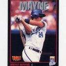 1993 Donruss Triple Play Baseball #036 Brent Mayne - Kansas City Royals