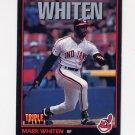1993 Donruss Triple Play Baseball #023 Mark Whiten - Cleveland Indians