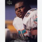 1995 Upper Deck Football #215 Tim Bowens - Miami Dolphins