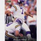 1995 Upper Deck Football #204 Fuad Reveiz - Minnesota Vikings