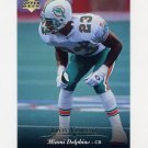 1995 Upper Deck Football #187 Troy Vincent - Miami Dolphins