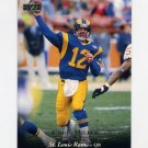 1995 Upper Deck Football #127 Chris Miller - St. Louis Rams