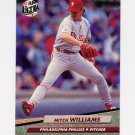 1992 Ultra Baseball #549 Mitch Williams - Philadelphia Phillies