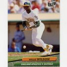1992 Ultra Baseball #429 Willie Wilson - Oakland A's