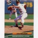 1992 Ultra Baseball #426 Gene Nelson - Oakland A's