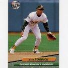 1992 Ultra Baseball #419 Mike Bordick - Oakland A's
