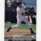 1992 Ultra Baseball #415 Andy Stankiewicz - New York Yankees