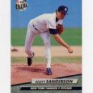 1992 Ultra Baseball #414 Scott Sanderson - New York Yankees