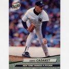 1992 Ultra Baseball #404 Greg Cadaret - New York Yankees