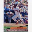 1992 Ultra Baseball #322 Hubie Brooks - California Angels