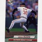 1992 Ultra Baseball #307 Gregg Olson - Baltimore Orioles