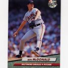 1992 Ultra Baseball #303 Ben McDonald - Baltimore Orioles