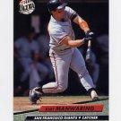 1992 Ultra Baseball #293 Kirt Manwaring - San Francisco Giants