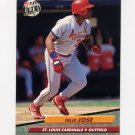 1992 Ultra Baseball #264 Felix Jose - St. Louis Cardinals