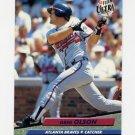 1992 Ultra Baseball #166 Greg Olson - Atlanta Braves